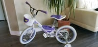 toddler's white and purple bicycle Toronto
