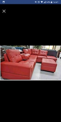 red leather sectional couch screenshot Austin
