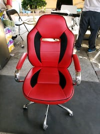 Belleze Executive crome Office Chair  Black/Red Los Angeles, 91335