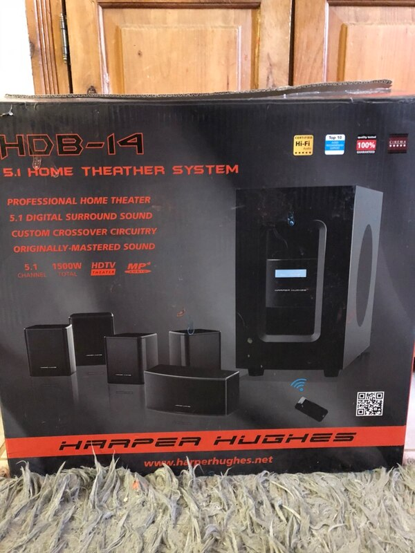 Harper Hughes 5 1 Home Theater System Box