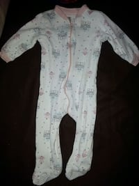 Baby's white and blue footie pajama Toronto, M3A 1V2
