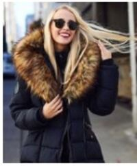 Black Faux Fur Hooded Coat Toronto, M3L 1V9