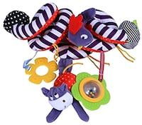 Activity Hanging Toy with Ringing Bell, Cute Plush Animals Style Calgary, T3K 4M2