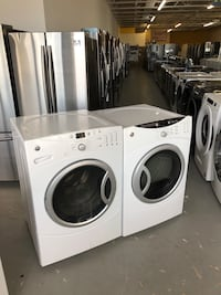 GE front loading washer and gas dryer set!