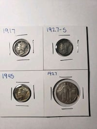 Standing liberty quarter Mercury Dimes Silver