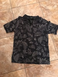 black and gray floral polo shirt Fayetteville, 30215