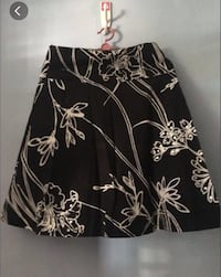 Black and white floral skirt Singapore