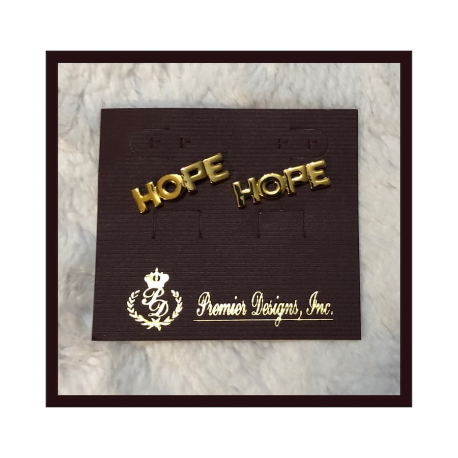 "Premier Designs Retired ""Hope"" Lapel Tack Pins Fashion Jewelry"