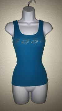Small blue and gray tank top