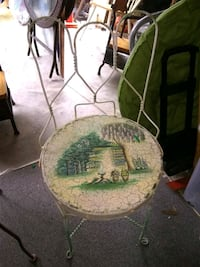 Hand painted metal chair Hybla Valley, 22306
