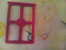 pink window pane