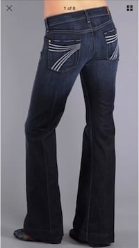 7 For All Mankind dojo jeans size 24 New Westminster, V3M 7A8