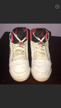 Kids Jordan Retro Leather Sneakers Canal Winchester