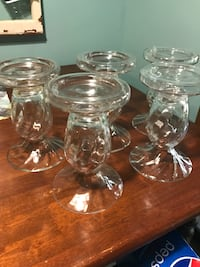 S/5 Glass candle holders from Pier 1 Rio, 53955