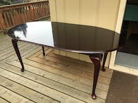 Round black wooden coffee table Anchorage