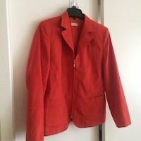 red notch lapel suit jacket