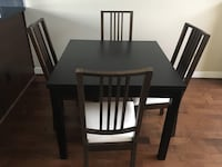 Dining set with four chairs included  Vancouver, V5V 2H6