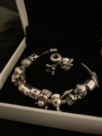 Authentic pandora bracelet with 14 charms (comes exactly like picture) Toronto, M3A 2G4