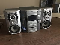 SONY 3-CD Changer, Double Tape Deck, 2 Subwoofers, with remote control Laurel, 20723