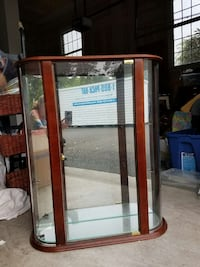Cherry wall cabinet with glass shelves Monroe Township, 08831