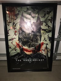 "24x36 in ""The Dark Knight"" framed poster Kansas City, 64151"
