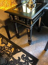 Black antique mirrored side table Clinton, 20735