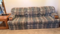 Blue and gray fabric 3-seat sofa Omaha, 68135