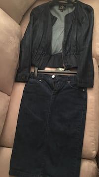 Dark Blue Jean Skirt Suit Columbia, 29201