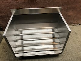Stainless Steel Liquor Display Rack 5 Tier
