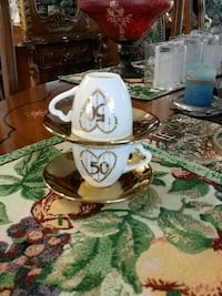 Set of 2 collectible Verdici cups/saucers Laval, H7G 2W7