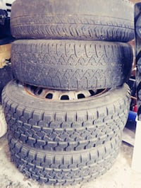 """In all 5 tires, 13"""" Honda Civic tires with rims Port Coquitlam, V3B 2C3"""