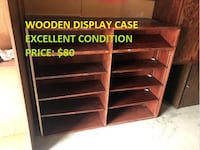 Wooden Display Case, Excellent Condition, Cheap Price! Mississauga