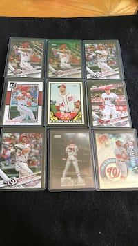Baseball card lot (Harper, Trout, Seager, more). Bedford, 48182