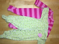 Baby's white and pink footie pajama Ajax, L1S 6Z2