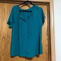 Women's extra large teal blouse.