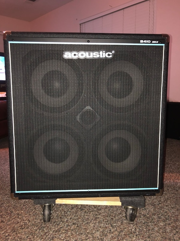 b5b8e66d22 Used Acoustic B410MKII 600watt Bass Cabinet w/ cover for sale in Tulare -  letgo
