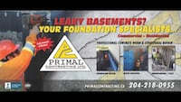 Primal Contracting LTD. business card null, R0C