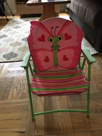 Green and pink butterfly armchair New York, 11218