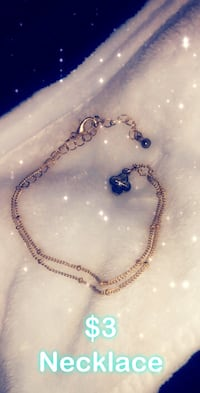 silver and blue beaded necklace Conway, 72032