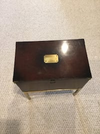 Lane Campaign Style Mahogany on Brass Stand Small Chest Box Side Table Emmitsburg, 21727