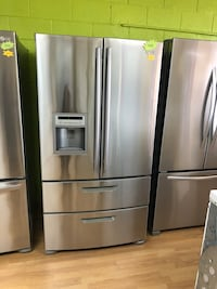 Stainless Steel LG Double French Door Refrigerator  47 km