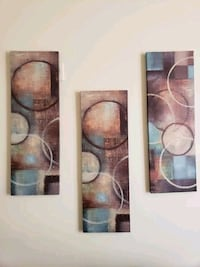 white and brown abstract painting Columbia, 21046