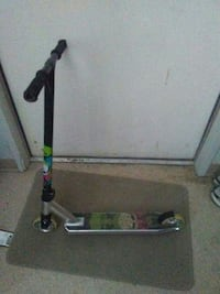gray and black kick scooter