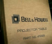 bell and howell projector table in box Woodstock, 22664