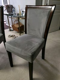 Gray Suede Espresso Wood Dining CHAIRS ONLY. Falls Church, 22041