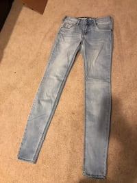 Blue washed denim jeans from wearhouse one  Edmonton, T6T 1S3