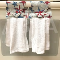 Two (2) patriotic stars kitchen towels - white Tampa, 33612