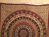 Maroon and Yellow Tapestry !