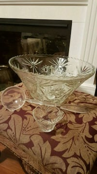 Vintage 50's Star of David Punch Bowl