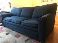 Custom couch with pull-out inflatable double mattress bed Chicago, 60657